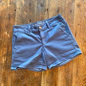 American Eagle Women's Twill Shorts, Soft Blue